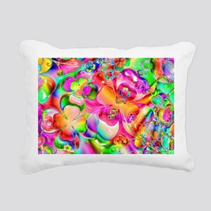 Rainbow Gell Shapes Rectangular Canvas Pillow